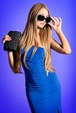 Jeune bleu Images stock