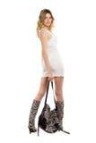 Jeune blonde attirante Photographie stock