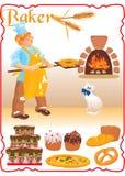 Jeune boulanger d'une chevelure rouge Photo libre de droits