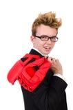 Jeune boxeur d'homme d'affaires Photo stock