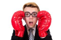 Jeune boxeur d'homme d'affaires Photos stock