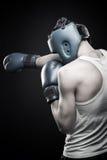 Jeune boxeur intense Images stock