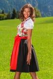 Jeune Brésilien en tant que beauté bavaroise Photos stock