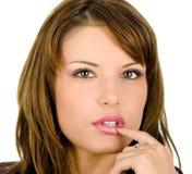Jeune brunette Image stock
