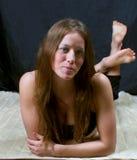 Jeune brunette Images libres de droits