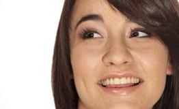 Jeune brunette de sourire Photos libres de droits