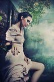 Jeune brunette magnifique Images libres de droits