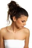 Jeune brunette mignon Photo stock