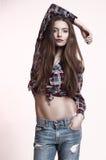 Jeune brunette punky sexy Photos libres de droits