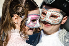 Jeune carnaval de Lovein Venise Photos stock