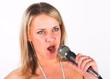 Jeune chanteur images stock