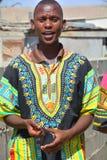 Jeune chanteur de rue Images libres de droits