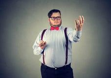 Jeune chef d'orchestre de musique au travail Photographie stock libre de droits