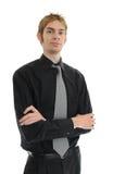 Jeune chef de file des affaires Photo stock