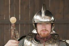 Jeune chevalier barbu Images stock