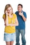 Jeune combat de couples photographie stock