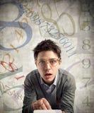 Jeune comptable perplexe Photographie stock libre de droits