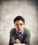 Jeune comptable perplexe Photos libres de droits