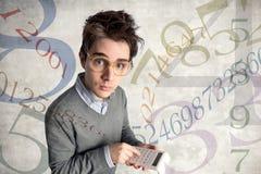 Jeune comptable perplexe Images libres de droits