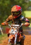 Jeune concurrent de motocross Photos stock