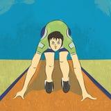 Jeune coureur pour le concept de sports Image stock