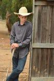 Jeune cowboy Photos stock
