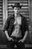 Jeune cowboy beau courageux sexy photographie stock