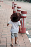 Jeune cowboy On Street Photo stock