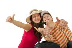 Jeune déplacement de couples Photo libre de droits