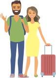 Jeune déplacement de couples illustration de vecteur