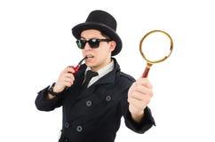Jeune détective avec le tuyau Photographie stock