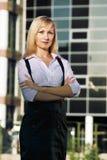 Jeune dame d'affaires Image libre de droits