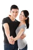 Jeune danse asiatique de couples Image libre de droits