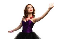 Jeune danse attrayante de femme Photos libres de droits