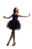 Jeune danse attrayante de femme Images libres de droits