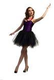 Jeune danse attrayante de femme Photo stock