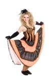 Jeune danse blonde de fille Image libre de droits