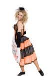 Jeune danse blonde de fille Photo libre de droits