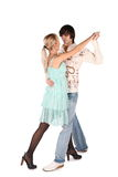 Jeune danse de couples Photo libre de droits