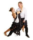 Jeune danse de salle de bal de danse de couples photographie stock libre de droits