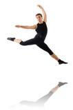 Jeune danseur d'isolement sur le blanc Images stock