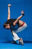 Jeune danseur dans le mouvement photo stock