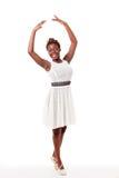 Jeune danseur de ballet d'african-american dans sous sous Images stock