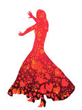 Jeune danseur de femme-flamenco Photos stock