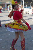 Jeune danseur du Chili dans le costume traditionnel 1 photo stock