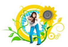 Jeune danseur heureux illustration libre de droits