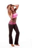Jeune danseur moderne frappant une pose de danse. Photo stock