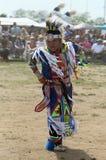 Jeune danseur non identifié de Natif américain au prisonnier de guerre wow de NYC Image stock