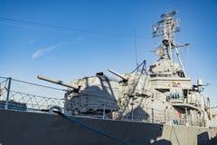 Jeune DD-793 Charlestown arsenal de la marine d'USS Cassin, Boston Photos libres de droits