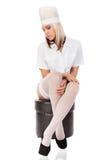 Jeune docteur féminin sexuel image stock